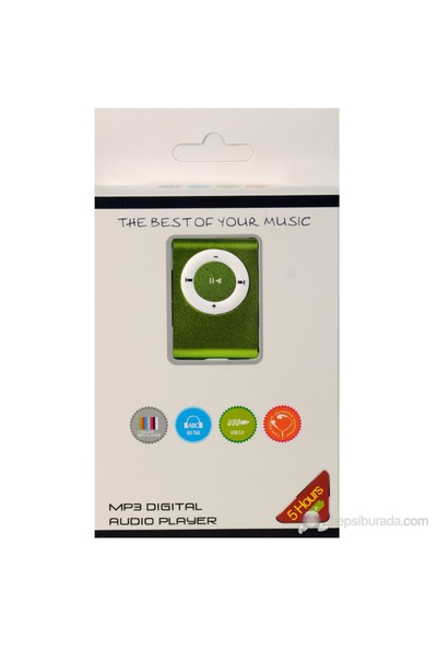 Multifon MP-11 4GB Mini Mp3 Player - Yeşil
