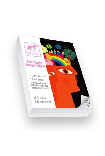 Rovi Fine-Art Mat Çift Taraflı Fotoğraf Kağıdı - 220Gsm - 50Yp - A5