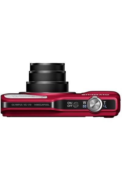 "Olympus VG-170 14 MP 3"" LCD 5x Optik Dijital Fotoğraf Makinesi ( 4 GB Hafıza Kartı + Olympus Çanta Hediyeli )"