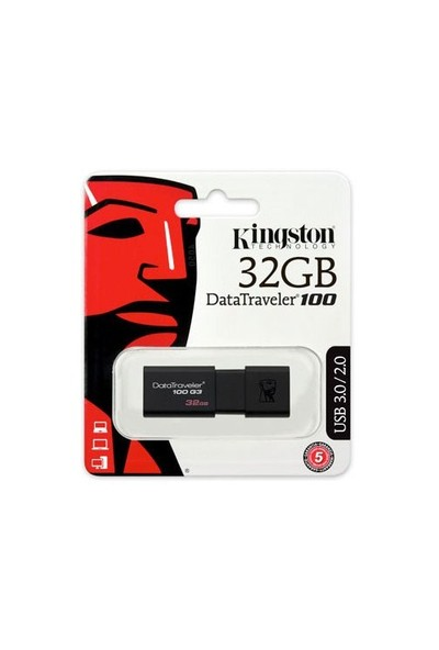 Kingston DataTraveler100 G3 32GB USB3.0 Usb Bellek (DT100G3/32GB)