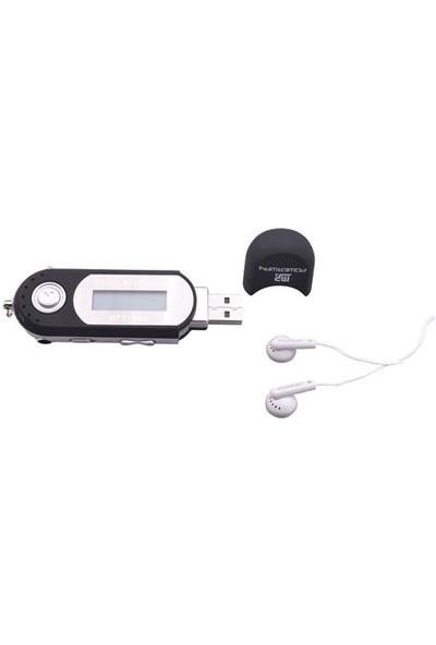 "Powerway PW-01 2GB + 1.0"" Ekran + FM Radyo + Ses Kayıt Mp3 Çalar Siyah"
