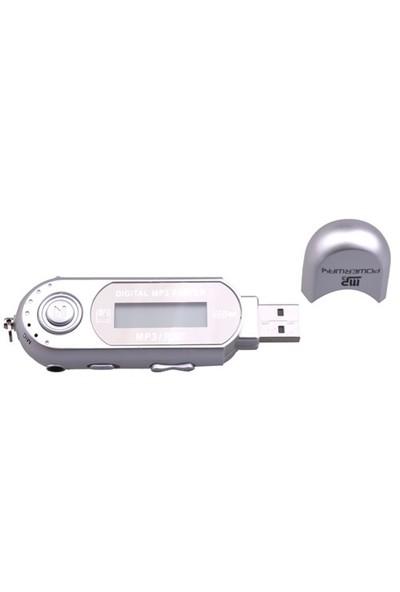 "Powerway PW-01 2GB + 1.0"" Ekran + FM Radyo + Ses Kayıt Mp3 Çalar Gümüş"
