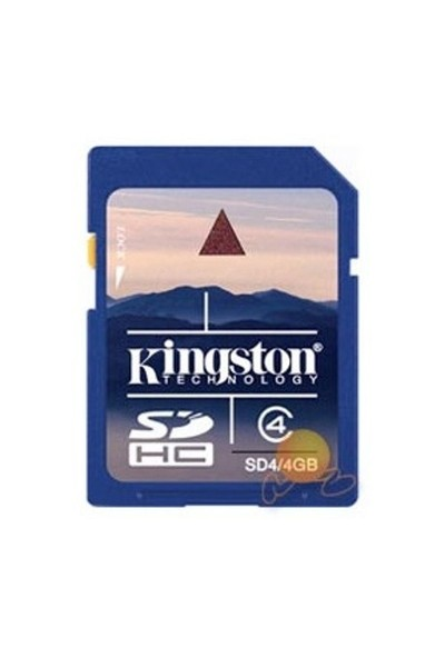 Kingston 4 GB Class 4 SDHC Hafıza Kartı SD4/4GB