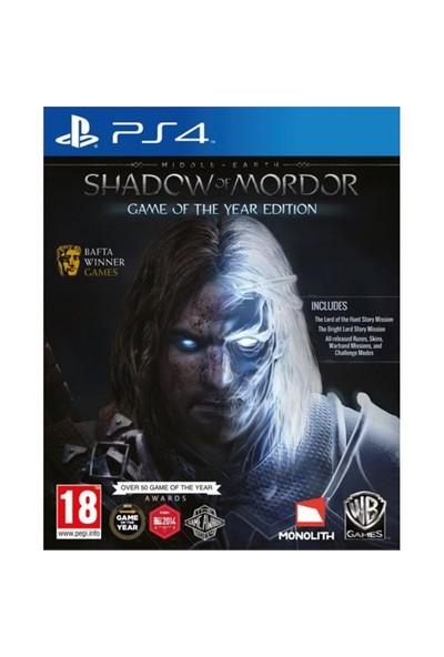 Shadow of Mordor GOTY PS4 Oyun