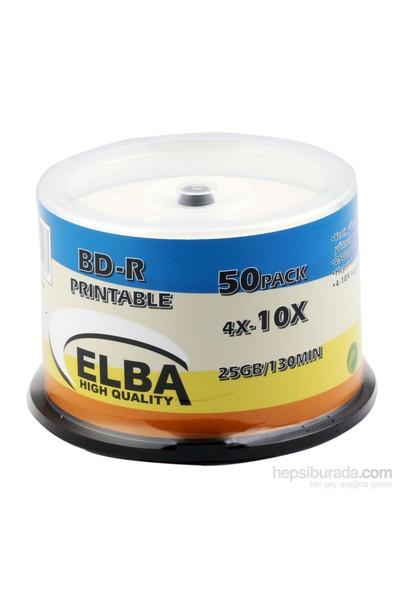 Elba Blu-Ray Bd-R 10X 25Gb 50Li Cake Box Prıntable