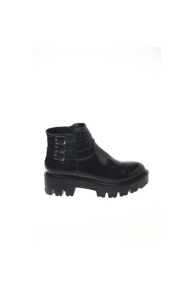 Shoes Time Günlük Bot Siyah Rugan Siyah Kroko 15K1003