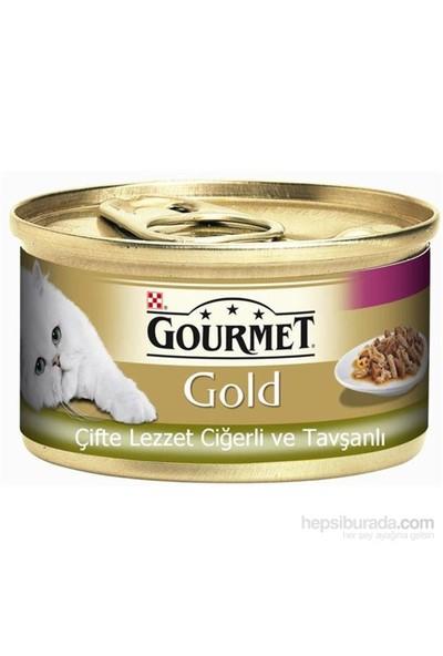 Purina Gourmet Gold Parça Etli Ciğerli Tavşanlı Mama 85 gr