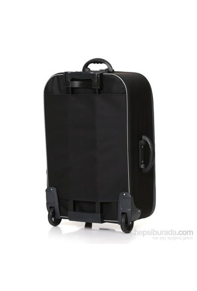HB 3'lü Siyah Kumaş Valiz Seti