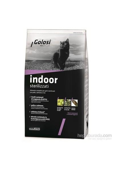Golosi Cat Indoor Ev Kedileri İçin Somon Balıklı Ve Pirinçli Kedi Maması 400 Gr