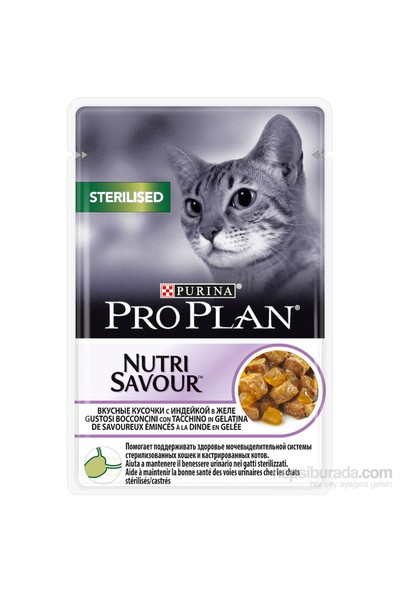 Pro Plan Sterilised Cat Kısırlaştırılmış Hindili Kedi Yaş Maması 85 Gr