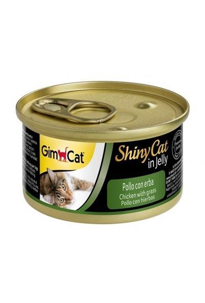 Gimpet Shiny Cat Tavuk Etli Çimenli Jöleli Konserve 70 gr