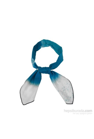 Cool Tie - Desenli Batik Mavi Beyaz