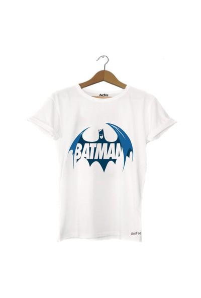 Dyetee Batman Blue Erkek T-Shirt