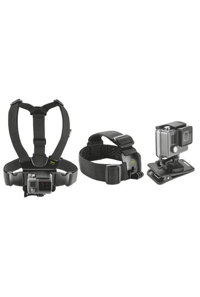 Trust Urbanrevolt 21231 Aksiyon Kameraları İçin Başlangıç Kiti/ Göğüs Bandı- Kafa Bandı Ve Klipsli Bağlantı