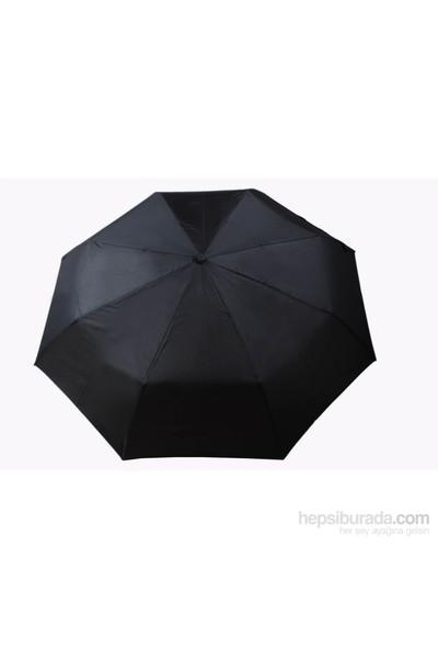 Zeus&Co. Siyah Manuel Rüzgara Dayanıklı Şemsiye