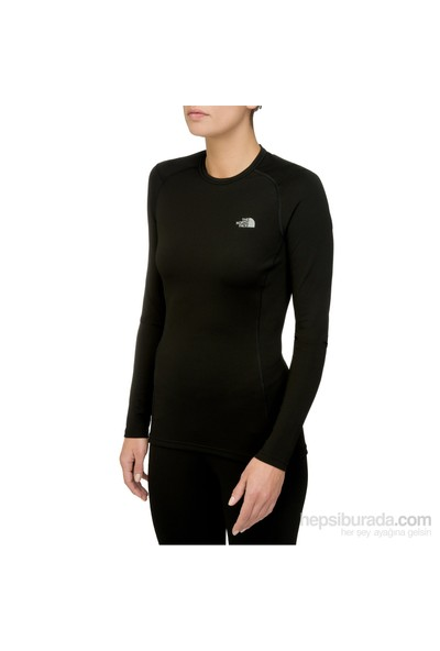 The North Face Siyah Kadın Termal Tişörtü T0C219Jk3 W Warm L/S Crew Neck