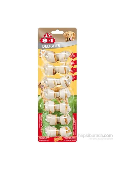 8 IN 1 Delights Bones Köpekler İçin Ağız Bakım Kemiği XS 7 Li