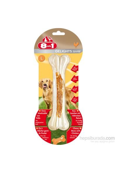 8 IN 1 Delights Bones Köpekler İçin Ağız Bakım Press Kemiği Large