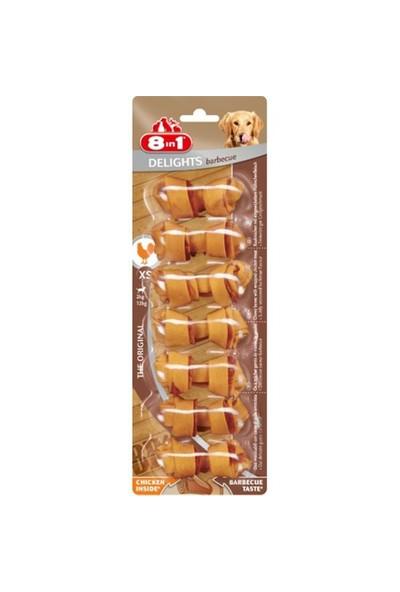 8 IN 1 Delights Köpek Barbecue Ödül Kemiği XS 7'li