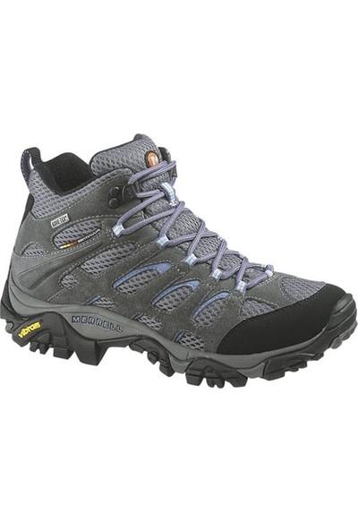 Merrell Moab Mid Gore-Tex Ayakkabı J87112 / Grey/Perıwınkle - 41