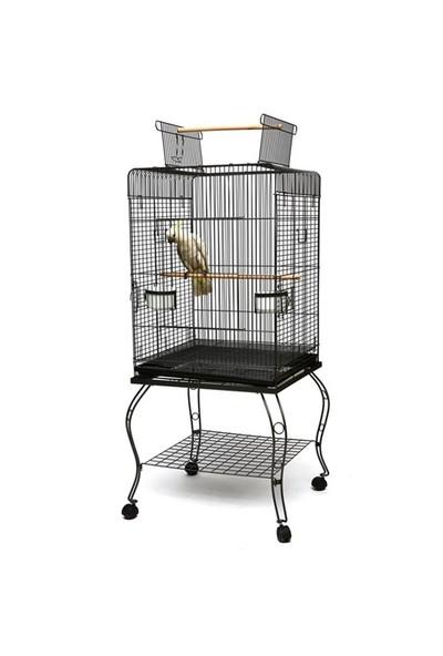 Fit Fly P923 Blk Ayaklı Papağan Kafesi Siyah