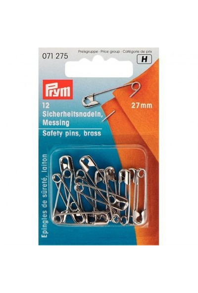 Prym 12 Adet Gümüş Çengelli İğne - 071275
