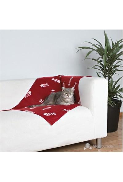 Trixie Kedi polar battaniye, 100×70cm, bordo
