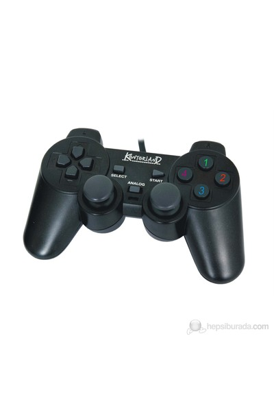 Kontorland KT-1080E PC USB Analog/Digital Titreşimli Gamepad