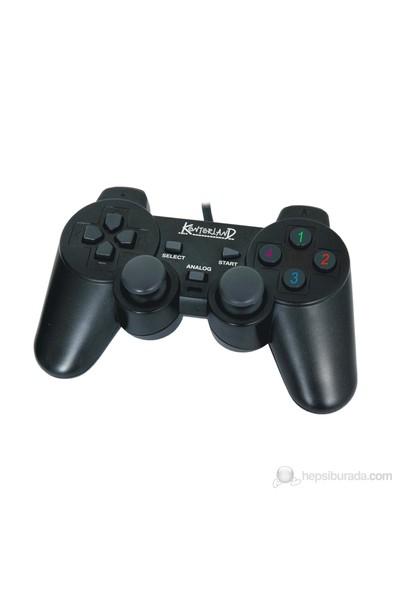 Kontorland KT-1081C PC USB Analog/Digital Titreşimli Gamepad