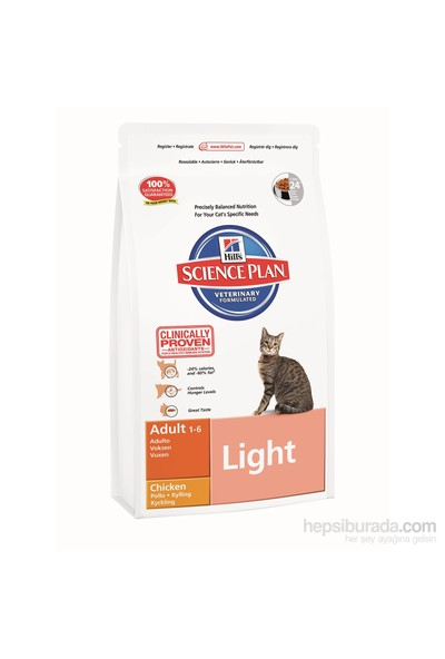 Hill's Science Plan Light Tavuklu Yetişkin Kedi Maması 5 Kg (Adult Light with Chicken)