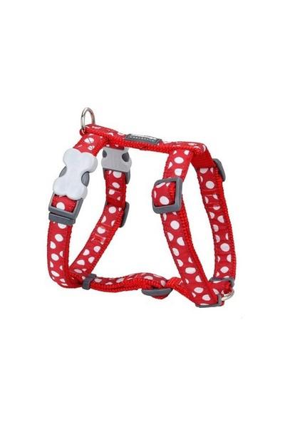 Reddingo Kırmızı Üzeri Beyaz Benekli Köpek Göğüs Tasması 25 Mm