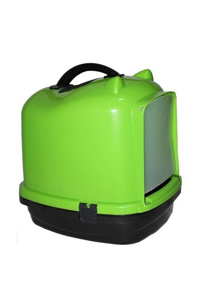 Leo'S Kapalı Kedi Tuvaleti Yeşil Kedi Küreği Hediyeli!