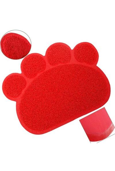 Catmat Pati Desenli Kedi Paspası Kırmızı 60 X 45 Cm