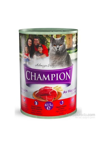 Champion Av Hayvanlı Yaş Kedi Konserve Maması 415 gr