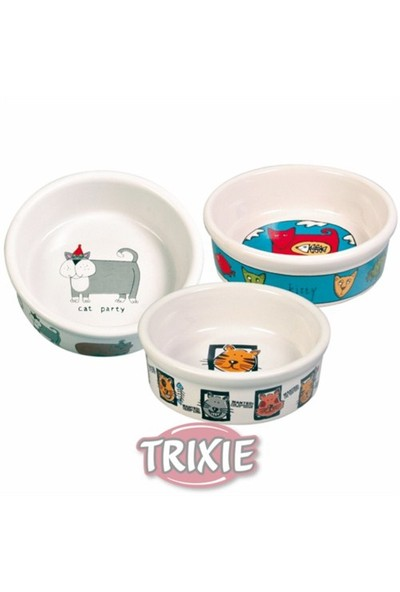 Trixie kedi seramik mama ve su kabı 0, 2lt/11cm