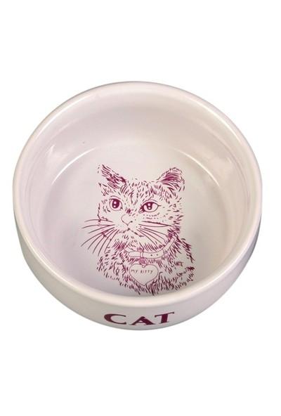 Trixie Kedi Porselen Mama/Su Kabı 0,3Lt/11Cm Beyaz