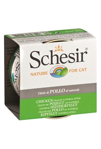 Schesir Cat Naturel Brine 85 Gr - Tavuk Etli Kedi Konservesi