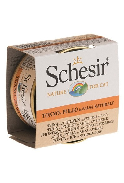 Schesir Cat Broth Naturel Sauce 70Gr- Ton Balıklı Ve Tavuklu Kedi Konservesi