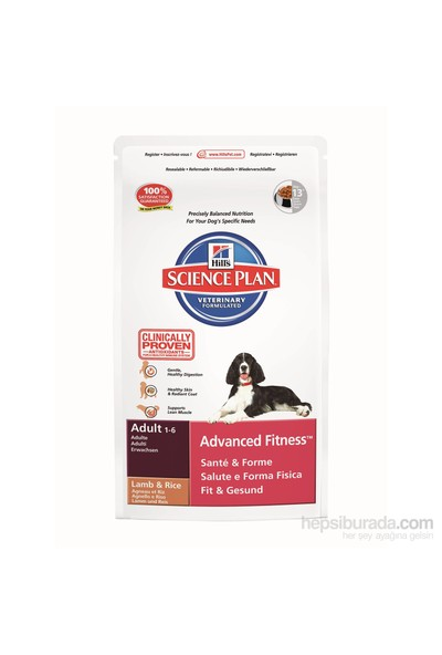 Hill's Science Plan Kuzu Etli Orta Irk Yetişkin Köpek Maması 12 Kg (Adult Advanced Fitness Medium with Lamb & Rice)