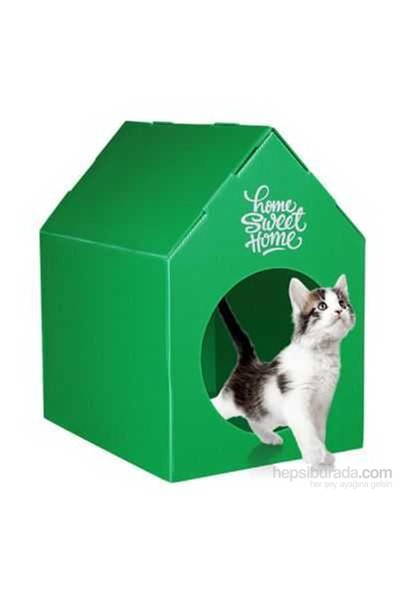 Ranna Home Sweet Home Su Geçirmez Kedi Evi - Yeşil