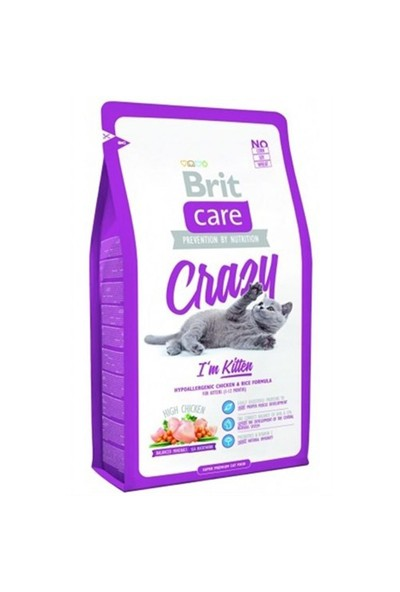Brit Care Cat Crazy Kitten Yavru Kedi Maması (I´M Kitten) 7 Kg
