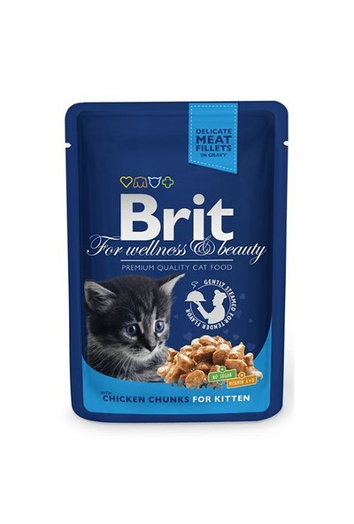 Brit Premium Tavuk&Balıklı Pouch Yavru Kedi Maması 100 Gr