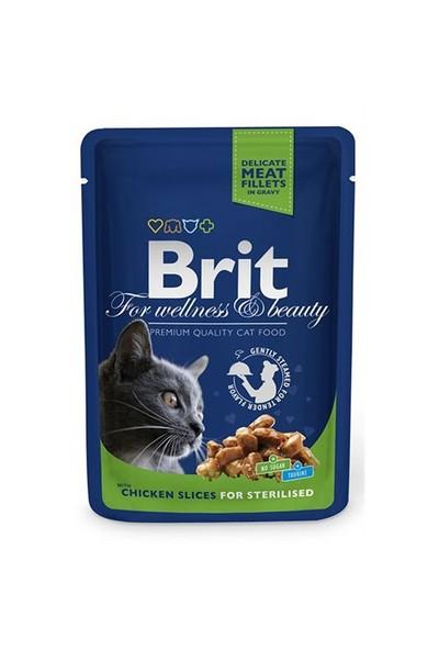 Brit Premium Tavuklu Pouch Kısırlaştırılmış Kedi Maması 100 Gr