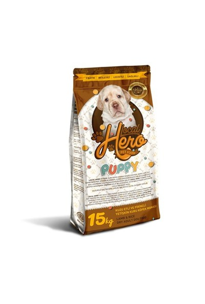 Local Hero Puppy Kuzu Etli Ve Pirinçli Yavru Kuru Köpek Maması