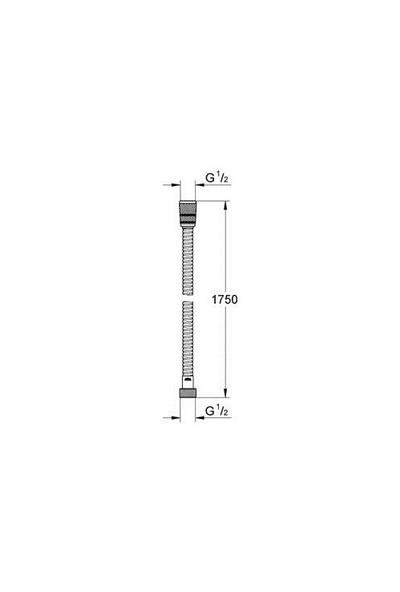 Grohe Rotaflex Duş Hortumu 175 cm - 28025000