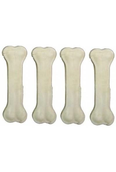 Beyaz Pres Köpek Çiğneme Kemiği 12,5 Cm 4 Adet