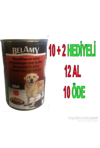 Belamy Biftekli Yetişkin Köpek Konservesi 1250 Gr x 12