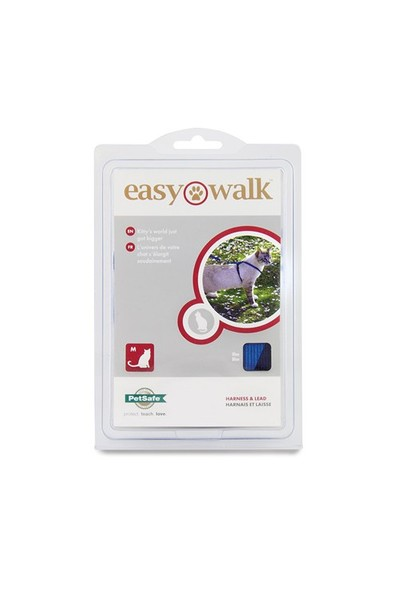 Easy Walk™ Cat Harness & Lead - Medium Mavi Kedi Tasması