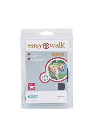 Easy Walk™ Headcollar - Large Siyah Köpek Tasması