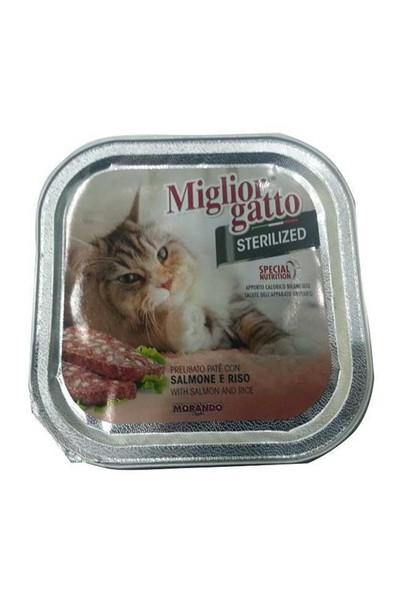 Miglior Gatto Kısırlaştırılmış Kediler İçin Somon Pirinçli Konserve 100 Gr